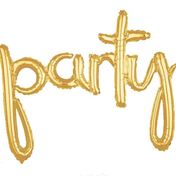 39in Gold Party Balloon Banner