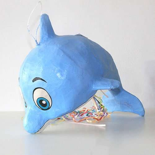 Dolphin Blue Pinata 1ct